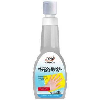 Álcool em Gel 500g 70% - Ref.13608 - ORBI