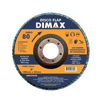 Disco de Lixa Flap para Metal 4.1/2 Poegadas com Grão 80 - Ref. DMX74558 - DIMAX