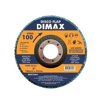 Disco de Lixa Flap para Metal 4.1/2 Polegadas com Grão 100 - Ref. DMX74565 - DIMAX