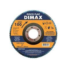 Disco de Lixa Flap para Metal 7 Polegadas com Grão 100 - Ref. DMX74565 - DIMAX