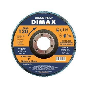 Disco de Lixa Flap para Metal 4.1/2 Polegadas com Grão 120 - Ref. DMX74572 - DIMAX