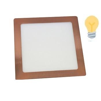 Luminária Plafon LED 18W 3000K Bivolt Embutir Quadrado Cobre - Ref. DI74848 - DILUX