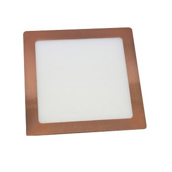 Luminária Plafon LED 18W 6500K Bivolt Embutir Quadrado Cobre - Ref. DI74855 - DILUX