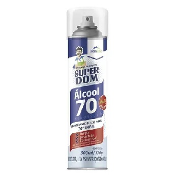 Álcool Aerossol 70% Super Dom 300ml - Ref.021.0192 - BASTON