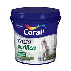 Massa Acrílica Balde Plástico 6Kg - Ref.5486902 - CORAL