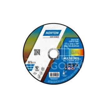 Disco de Corte 4.1/2 Polegadas Aço T41 MultiCorte - Ref.66252846280 - NORTON
