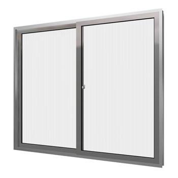 Janela de Alumínio 2 Folhas Vidro Canelado 80x100cm Home EMC022001 - Ref.EMC022001 - QUALITY