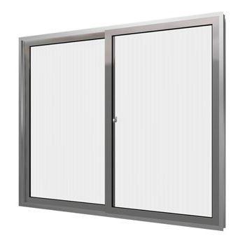 Janela de Alumínio 2 Folhas Vidro Canelado 100x100cm Home EMC022002 - Ref.EMC022002 - QUALITY