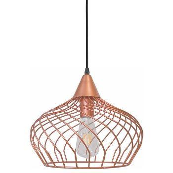 Pendente Metal Aramado Sorrento Redondo Bronze Vermelho - Ref. DI62555 - DILUX