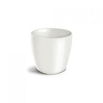 Cachepo Plástico Redondo Elegance Mini Branco - Ref.6101700-02 - NUTRIPLAN