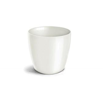 Cachepo Plástico Redondo Elegance nº 03,5 Branco - Ref.6101704-02 - NUTRIPLAN
