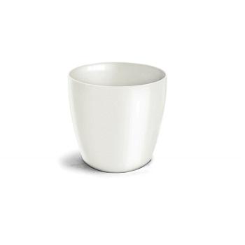 Cachepô Plástico Redondo Elegance nº 04 Branco - Ref.6101709-02 - NUTRIPLAN