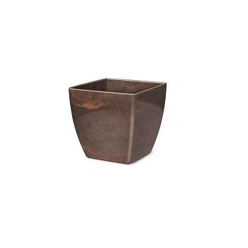 Cachepô Plástico Quadrado Elegance nº 1 Café Imperial - Ref.6101705-18 - NUTRIPLAN