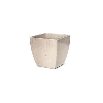 Cachepô Plástico Quadrado Elegance nº 01 Travertino - Ref.6101705-19 - NUTRIPLAN