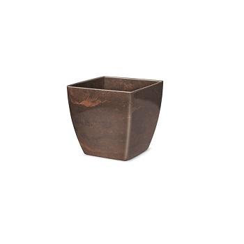Cachepô Plástico Quadrado Elegance nº 3 Café Imperial - Ref.6101706-18 - NUTRIPLAN