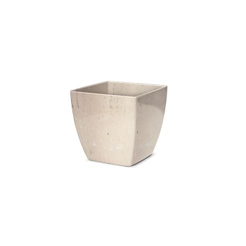 Cachepô Plástico Quadrado Elegance nº 3 Travertino - Ref.6101706-19 - NUTRIPLAN