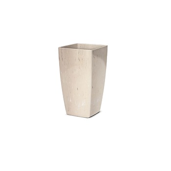 Cachepo Plástico Trapezio Elegance nº 01 Travertino - Ref.6101717-19 - NUTRIPLAST