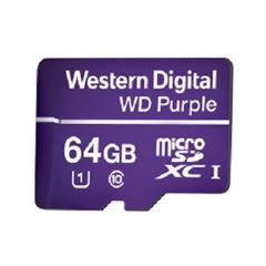 Cartão de Memória para CFTV Micro SD 64GB Purple - Ref. 4600145 - WESTERN DIGITAL