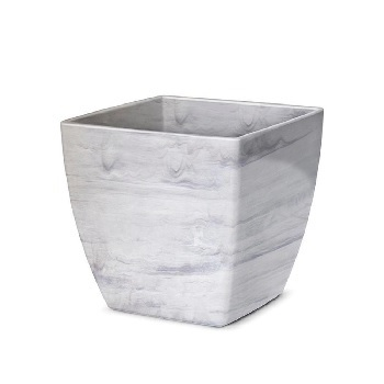 Cachepô Plástico Quadrado Elegance nº 01 Branco Carrara - Ref.610170530 - NUTRIPLAN