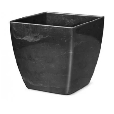 Cachepô Plástico Quadrado Elegance nº 01 Preto Onix - Ref.610170531 - NUTRIPLAN