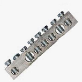 Barramento de Alumínio Neutro e Terra com 7 Ligações 16mm Saco com 2 Peças - Ref.989553 - CEMAR