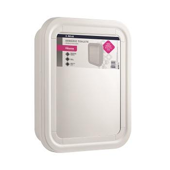 Armário para Banheiro de Plástico 30x37x9,5cm Toalete Branco - Ref.PR5055-2 - ATLAS