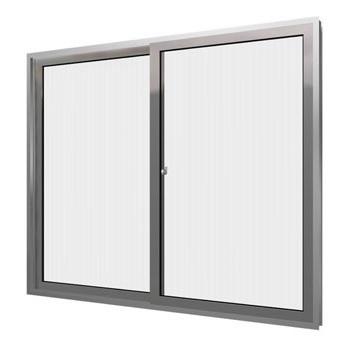 Janela de Alumínio 100x100 2 Folhas Vidro Liso HMJCNTL002 - Ref.EMC023002 - QUALITY