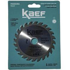 Disco de Serra Circular para Madeira com 24 Dentes 110mm - Ref.60943 - KAEF
