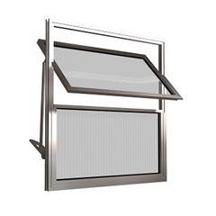 Basculante de Alumínio 2 Folhas Vidro Canelado 50X50cm FNJBC - Ref.FRN025006 - FREEDOM