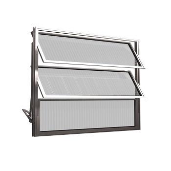Basculante de Alumínio 3 Folhas Vidro Canelado 40X60cm FNJBC - Ref.FRN025007 - FREEDOM