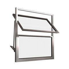 Basculante de Alumínio 2 Folhas Vidro Liso 30X30cm FNJBL - Ref.FRN026001 - FREEDOM