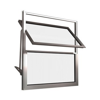 Basculante de Alumínio 2 Folhas Vidro Liso 40X40cm FNJBL - Ref.FRN026002 - FREEDOM