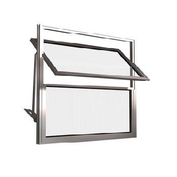 Basculante de Alumínio 2 Folhas Vidro Liso 60X40cm FNJBL - Ref.FRN026003 - FREEDOM