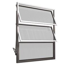 Basculante de Alumínio 3 Folhas Vidro Liso 40X60cm FNJBL - Ref.FRN026007 - FREEDOM