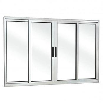 Janela de Alumínio 4 Folhas Vidro Liso 120x100cm FNJCL - Ref. FRN0280012 - FREEDOM