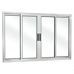 Janela de Alumínio 4 Folhas Vidro Liso 150Lx100A FNJCL - Ref. FRN0280013 - FREEDOM