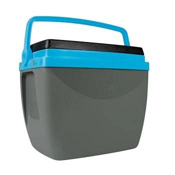 Caixa Termica em Polipropileno 18 Litros Cinza e Azul Ref - 25108185 - MOR