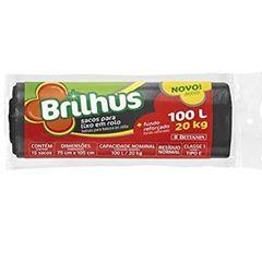 Saco de Lixo Plástico 100 Litros Rolo com 15 Sacos Brilhus - Ref.BT2058 - BETTANIN