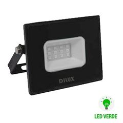 Refletor de Alumínio LED Slim 10w Bivolt IP65 Verde - Ref.DI76798 - DILUX