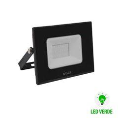 Refletor de Alumínio LED Slim 30w Bivolt IP65 Verde  - Ref.DI76811 - DILUX