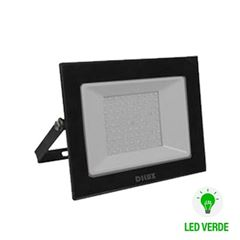 Refletor de Alumínio LED Slim 100w Bivolt  IP65 Verde - Ref.DI76835 - DILUX