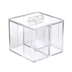 Caixa Organizadora com Tampa de Poliestireno Cristal com 3 Divisorias - Ref.3075.h.0006 ¿ Dello