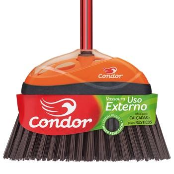 Vassoura Piaçava Sintética para Limpeza Externa com Cabo V52 - Ref.97693 - CONDOR