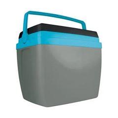 Caixa Térmica em Polipropileno 34 Litros Cinza com Azul - Ref.25108170 - MOR