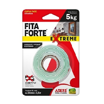 Fita Dupla Face 24mmx1,5m Fita Forte Extreme - Ref.25585030122 - ADERE