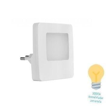 Luz Noturna LED 0,5w Bivolt Facho 3000k Quadrada Branca - Ref.54053004 - BLUMENAU