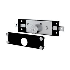 Fechadura para Porta de Enrolar Tetra 1201 Preto Fosco - Ref.50102 - STAM