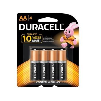 Pilha Aa Ct 4 Unidade Alcalina - Ref.300176 - Duracell