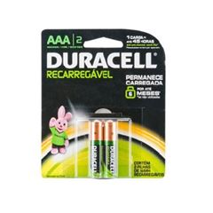 Pilha Aaa Ct 2 Unidade Recarregavel Alcalina - Ref.303705 - Duracell