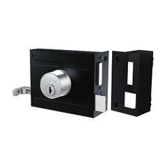 Fechadura Sobrepor para Portão Espelho 701/100 Preto Fosco - Ref. 56417 - STAM